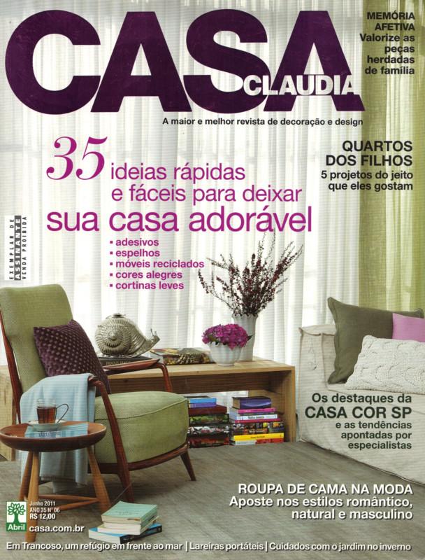Mídia: Casa Claudia Junho 2011
